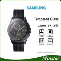 equipo activo al por mayor-Vidrio templado para Samsung Smart Watch Active 42mm 46mm Gear Sport Classic S2 S3 S4 Para Fitbit Versa Blaze Surge Protector de pantalla