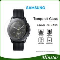 engrenagem ativa venda por atacado-Vidro temperado para samsung smart watch ativo 42mm 46mm engrenagem esporte clássico s2 s3 s4 para fitbit versa blaze protetor de tela de surto