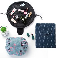Wholesale rolling purse - 6 Styles VELY Lazy Cosmetic Bag Drawstring Storage Bags Designer Handbags Women Wallet Bolso Designer Luxury Handbags Purses