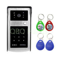 Wholesale outdoor keypad - RFID Intercom System Entrance Machine Color Video Phone DoorBell With Digital Touch Keypad Outdoor CMOS IR Night Vision Camera