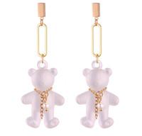 Wholesale acrylic chandelier chain for sale - Group buy Earrings Jewelry For Women New Fashion Personality Acrylic Cute Bear Drop Earrings Gold Plated Chain Tassel Dange Chandelier