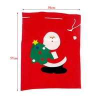 Wholesale large feet for sale - Santa Claus Bag Gift Bags Christmas Decorations Large Number Red Cozy Sack Chlidren Favour Joy Presents Gifts bx gg