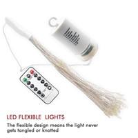 las luces de la batería parpadean al por mayor-Nuevo LED String Light Operado con batería Hanging Starburst Light 120 LED Bouquet Lights Fairy Twinkle Light 8 modos regulable para Party Patio