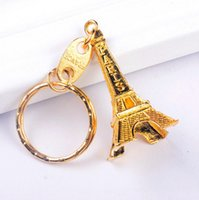 Wholesale paris keychain souvenir resale online - Hot sale Eiffel Tower alloy keychain metal key chain Eiffel Tower key ring Metal Keychain France Efrance souvenir paris keyring keyfob