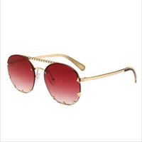 lunettes de soleil rondes arrow achat en gros de-Lunettes de soleil rondes surdimensionnées pour femmes Oculos Shade Frame Rétro flèche miroir lunettes de soleil Lunettes de soleil UV400