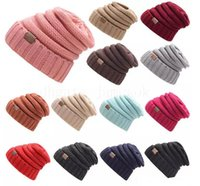 Wholesale protection baby for sale - 2018 Hot sale Parents Kids CC Hats Baby Moms Winter Knit Hats Warm Hoods Skulls Hooded Hats Hoods