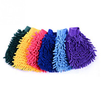 Wholesale side car for sale - Single Side Super Mitt Microfiber Car Wash Gloves Washing Cleaning Anti Scratch Car Washer Household Care Brush