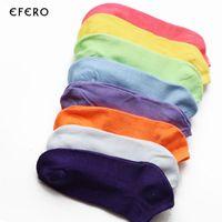 Wholesale multi color slipper socks resale online - 10pairs Women Socks Cotton Low Cut Sock Candy Color Fashion Ankle Boat Short Socks Sokken Calcetines Mujer Chaussettes Femmes