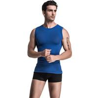 Wholesale body shaper t shirt resale online - New Mens Body Shaper Quick Dry Vest Sleeveless Men S T Shirt Men S Tank Top Men Fitness Top Summer Fashion