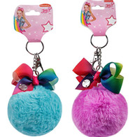 Wholesale key chain ball resale online - JOJO keychain pompom ball keychain pendant Female bag car cartoon hanging jewelry fashion gift key chain KKA6105