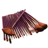 güzellik fırçaları toptan satış-11.11 Satış 18 Adet Makyaj Fırçalar Aracı Set Kozmetik Toz Göz Farı Vakfı Allık Karıştırma Güzellik Makyaj Fırça Maquiagem
