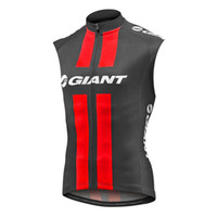 Wholesale team cycling clothing sale resale online - GIANT team Cycling Sleeveless jersey Vest Hot Sale breathable and quick drying mountain Bike Clothes free delivery U52914