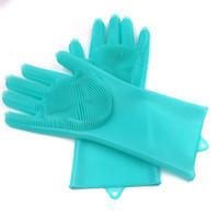 teller m großhandel-2 paar magische silikon geschirr waschen handschuhe umweltfreundliche wäscher reinigung für mehrzweck küche bett bad haarpflege