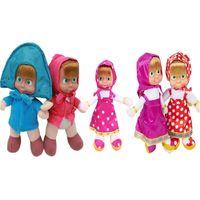 Wholesale masha bear toys for sale - HOT CM Russian Masha plush princess Bear Toy Baby Children Best Stuffed Plush Doll for baby Christmas Gifts hot