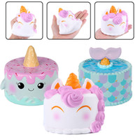 Wholesale Whale Tail - Super Soft Slow Rising Unicorn Whale Mermaid Tail Cake Squishy Jumbon Toys Squeeze Phone Charms Stress Reliever Kids Gift