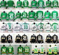 Cheap Dallas Stars Hockey 14 Jamie Benn 90 Jason Spezza 91 Tyler Seguin 21  Antoine Roussel 20 Dino Ciccarelli 9 Mike Modano Jerseys adbbe4a48