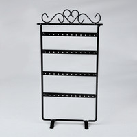 Wholesale metal necklace stands displays resale online - Useful Jewelry Holding Display Metal Rack Mini Holes Earrings Necklace Ear Studs Metal Stand Organizer Jewelry Display Shelf