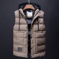 ingrosso le giacche coprono il vestito coreano-uomini cappotto invernale moda gilet mens abbigliamento coreano streetwear maschile trench coat piumini abiti firmati casual gilet per uomo