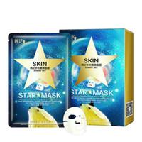 ingrosso sfilare la maschera sbiancante-DHL 6lot Star Mask Glitter Glow Star Maschera Sbiancante Sequin alghe Maschera nera Peel off idratare pelle cielo stellato Health Care
