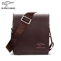 erkekler deri haberci çantası kanguru toptan satış-Badenroo Marka erkek Postacı çantası Lüks Çanta Kanguru Erkek çanta Tasarımcısı Deri Iş Erkek Omuz Çantaları Crossbody