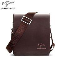 känguru handtaschen großhandel-Badenroo Marke Männer Umhängetasche Luxus Handtaschen Känguru Männertaschen Designer Leder Business Männer Schultertasche Crossbody