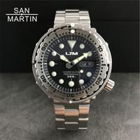 ingrosso m orologio sportivo-Nuovi uomini Tuna SBBN015 Fashion Watch Automatic Diving Sport Watch Acciaio inossidabile 300 m Resistente all'acqua ghiera in acciaio inossidabile