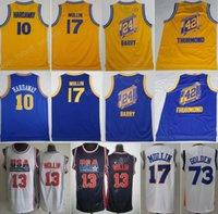 Wholesale Vintage 13 - College Throwback Basketball Jerseys 10 Tim Hardaway 73 Golden 24 Rick Barry 42 Nate Thurmond 17 Chris Mullin Jersey 13 Vintage Yellow Blue