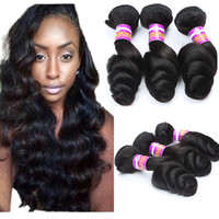 Wholesale Brazilian Loose Wave Hair Bundles - Gagaqueen 8A Brazilian loose wave Virgin Hair 3 Bundles loose wave Human Hair Extensions Peruvian Malaysian Indian Virgin Hair Loose Wave