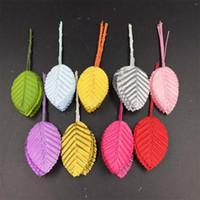 Wholesale gerbera flower decoration online - Leaves Silk Stocking Flowers Multi Color Artificial Leaf Flower Festive Weddding Party Decorations Hot Sale yj C R