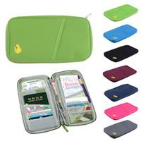 taşıyıcı çanta toptan satış-Seyahat Pasaport Kredi KIMLIK Kartı Tutucu Nakit Cüzdan Pasaport Organizatör Çanta Çanta Cüzdan taşıması kolay Ücretsiz kargo