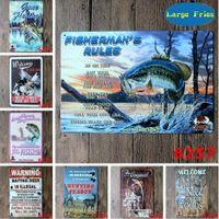 ingrosso contenitori pubblicitari d'epoca-LF Metal Targa in metallo Caccia Pesca Pubblicità Bar Pub Casa Vintage Retro Poster Dimensioni 8
