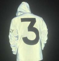 números de impresión al por mayor-Temporada 3 Chaqueta reflectante Número 3 Hombres de la impresión Chaquetas de moda Chaqueta cortavientos Primavera Otoño Abrigos Ropa de abrigo