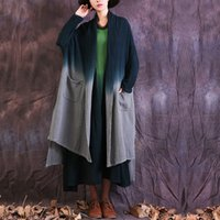 Wholesale Denim Trench - Autumn spring Cotton linen Trench Coats for women Mori girl Long sleeve Vintage Women Coats four color