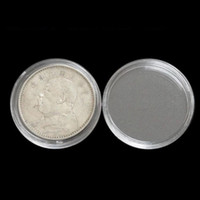 Wholesale round display clear - 40mm Clear Coin Capsules Caps Transparent Coincapsules For Coins Dollar Collection Display Holder Free Shipping QW7328