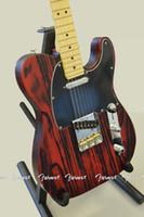 Wholesale tl guitar maple resale online - 6 string electric guitar maple neck red TL electric guitar