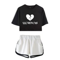 Wholesale womens hiking clothing for sale - Group buy Crop Tops Shorts Hot Sale Fashion Clothes Set Sports Running Womens Tracksuits