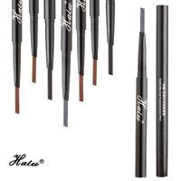 kalıcı makyaj kaş kalemi toptan satış-Halu Kadınlar Su Geçirmez Makyaj Kaş Kalem Erkekler Kalıcı Uzun Ömürlü Çift Uç Kaş Kalemi Kozmetik Göz Kaş Kalemi Araçları Stencil