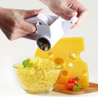 el davulları toptan satış-Yeni Tasarım Promosyon Plastik El-krank Davul Peynir Rende Döner Zencefil Dilimleme Çikolata Rende