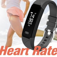 Wholesale remote control online - LY118 ID115 F0 Smart Bracelets Fitness Tracker Step Counter Activity Monitor Band Alarm Clock Vibration Wristband for iphone Android phone
