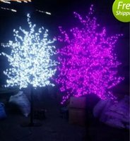 ingrosso decorazione albero in fiore artificiale-1.8 M Altezza LED Artificiale Cherry Blossom Tree Light Luce di Natale 1152 pz LED Lampadine 110/220 VAC Impermeabile fairy garden Decorazioni di natale