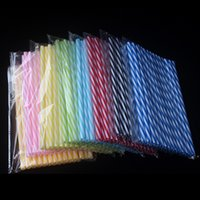 Wholesale biodegradable plastics for sale - Group buy Eco Friendly Pc High Quality cm Party Straws Reusable Biodegradable Distored Color Beverage Hard Plastic Stripe Drinking Straws