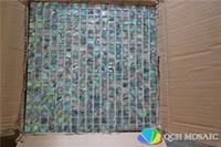 cuisine de dosseret de mère perle achat en gros de-Nouvelle-Zélande abalone paua shell nacre mosaïque carrelage pour dosseret de cuisine et salle de bain 5 pieds carrés / lot couleur naturelle
