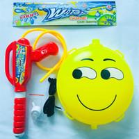 Wholesale trampoline jumping - Large Children Backpack Emoji Water Blaster Toys High Pressure Range Pull Away Cartoon Fun Beach Toy 9 5rm W
