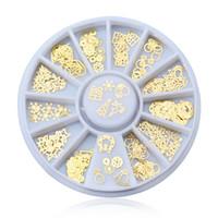 акриловые алмазные камни оптовых-120 PCS Nail Rhinestone Decoration Gold Chain Pearl Stone Metal Acrylic Studs Crystal Fake Diamond Polish Nail Art Design #