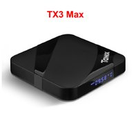 conjuntos máximos venda por atacado-14PCS Tanix TX3 MAX 2GB 16GB BT4.1 Android 7.1 TV BOX Amlogic S905W Quad Core Set Top Box TX3MAX