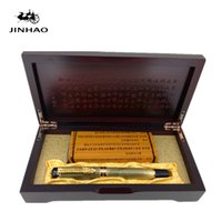 Wholesale dragon gift pen resale online - Jinhao Ancient Grey Chinese Oriental Dragon Fountain Pen with Original Box