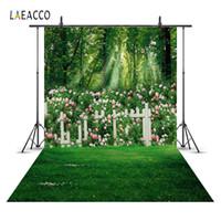 ingrosso fondali di fiori-Sfondi Laeacco Spring Flower Flower Garden Floor Scenic Baby Sfondi fotografici personalizzati per studio fotografico
