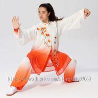 Wholesale taiji clothing online - Chinese Tai chi garment wushu uniform kungfu clothes Martial arts suit taiji outfit Embroidery Apparel for men women girl boy kids adults