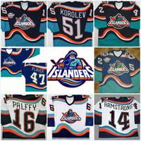 Wholesale John 16 - #16 Ziggy Palffy New York Islanders Fisherman Darius Kasparaitis John Tavares Korolev Brent Severyn Beraro Vintage Throwback Hockey Jerseys