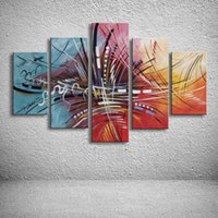 Wholesale sailing ship oil paintings resale online - MYT Canvas oil paintings Hand painted abstract huge modern oil painting boat ship sailing wall pictures art for living room